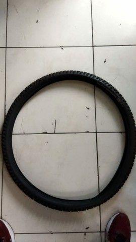 Kit pneu e amortecedor bicicletas