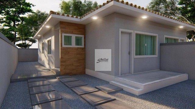 Excelente casa linear com 3 dormitórios à venda, 70 m² por R$ 310.000 - Enseada das Gaivot - Foto 9