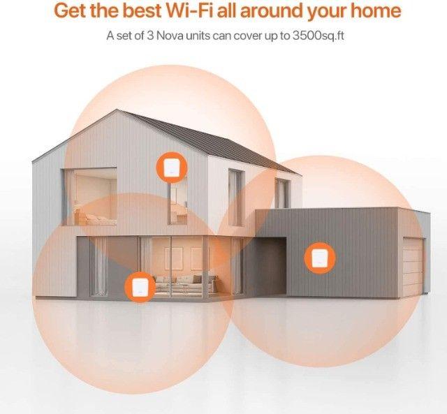 Roteador Wi-fi Mesh Com 3 Gigabit Dual Band Mw5c Branco - Foto 6