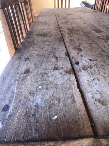 Mesa de madeira 10 lugares