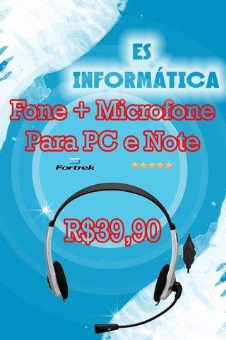 Fone Fortrek Multimidia c/Microfone HBL-101 Prata/Preto