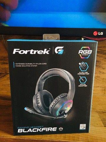 Headset Gamer RGB Blackfire Preto Fortrek NOVO