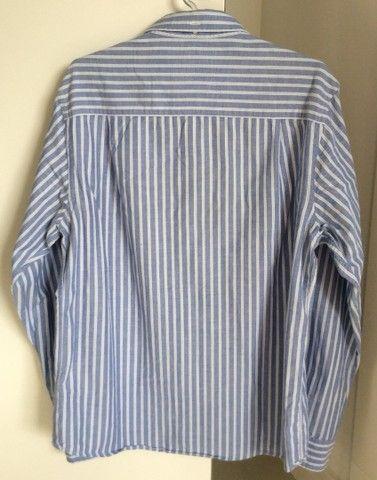 Camisa manga longa em algodão listrada Richards  - Foto 3