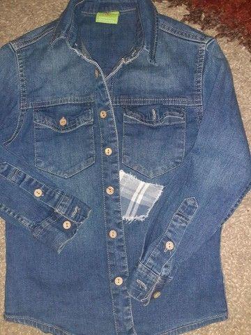 Calça jeans clara, Tam 6 - Foto 4