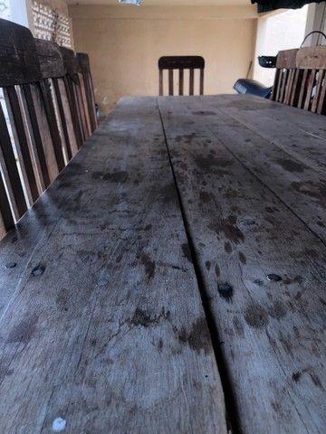 Mesa de madeira 10 lugares - Foto 2