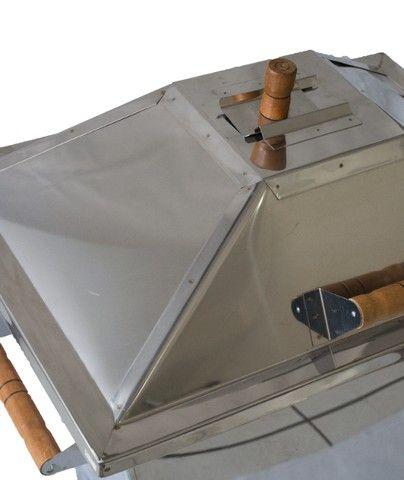 Churrasqueira  a bafo em inox 18kg - Foto 2