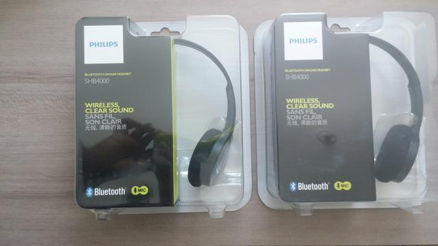 Bluetooth Headset Philips SHB4000 Lacrado, Nota Fiscal