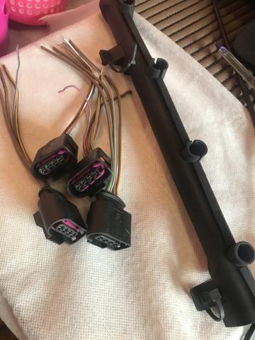 Plug conector + acabamento plástico bobina Gol G6 - Foto 2