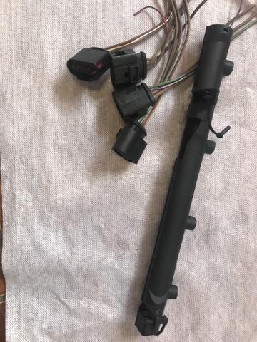 Plug conector + acabamento plástico bobina Gol G6 - Foto 4