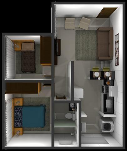 Apartamento à venda com 2 dormitórios em Jardim candelaria, Divinopolis cod:11443 - Foto 12