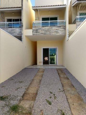 Casa duplex com 3 dormitórios sendo 2 suítes, 2 banheiros, a venda,  por R$ 310.000 - Mess - Foto 2