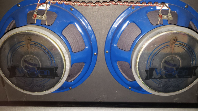 Amplificador Meteoro Nitrous 100 com falantes Voghan (venda/troca) - Foto 4