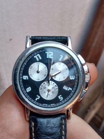 Relógio Montblanc Blanc Summit Xl Crono, Quartzo, Safira