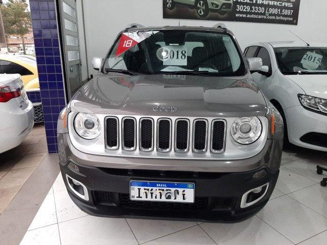 Jeep renegade limited automática 6 marchas único dono garantia banco couro multimídia - Foto 5