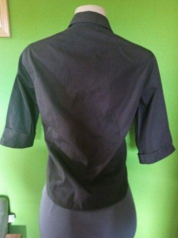 Camisa Feminina Preta -M - Foto 3