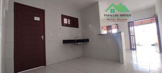 Ampla casa nova com dois quartos pertinho da rádio mar azul em Paracuru - Foto 6