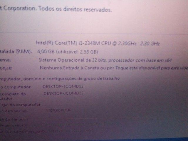 Notebook Acer i3 2348 com Detalhe na tela  - Foto 2