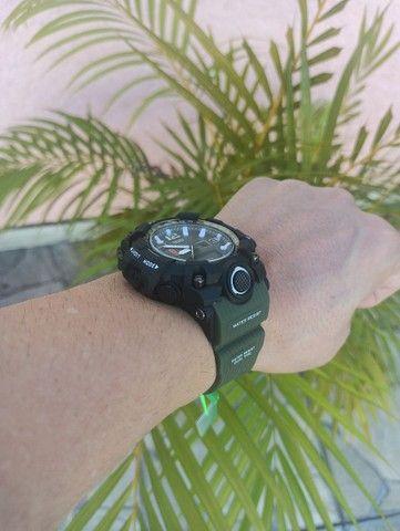Relógio militar SMAEL (50M) Original - Verde Oliva - Foto 6