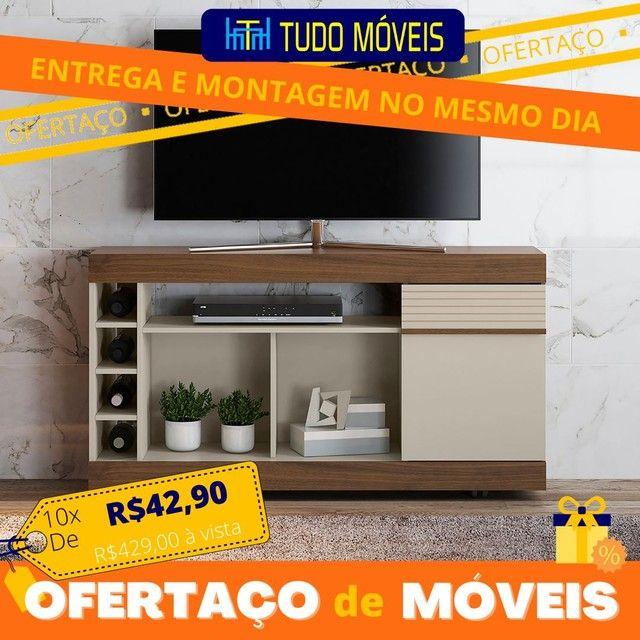 """OFERTAÇO DE MÓVEIS / RACK PARA TV até 60"""" COM ADEGA E RODINHAS"""