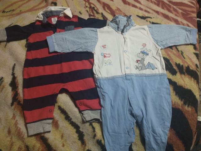 Lote roupas bebê menino 0a3 meses  - Foto 4
