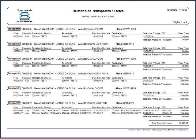 Sistema de Gestão para Transportadoras de Fretes, Transportes. Cadastros, Caixa,Financeiro - Foto 5