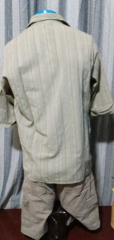 Camisa masculina, manga 3/4, em tecido leve - M - Foto 3