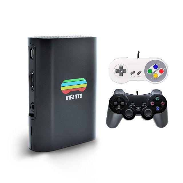 Console Infanto 3 - Video Game Retrô com 20 mil jogos antigos (2 controles) c/ NFe MG