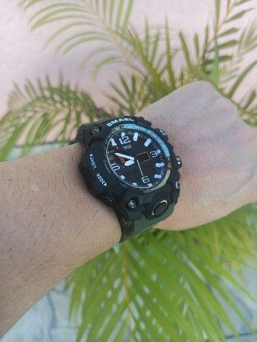 Relógio militar SMAEL (50M) Original - Verde Oliva - Foto 2