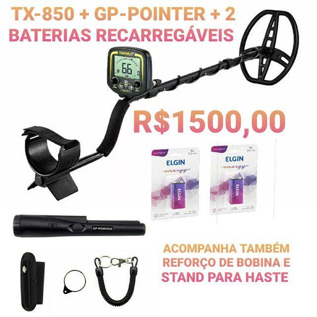 Detector de metais Tianxun TX-850 Semi Novo Com acessórios e baterias barato.