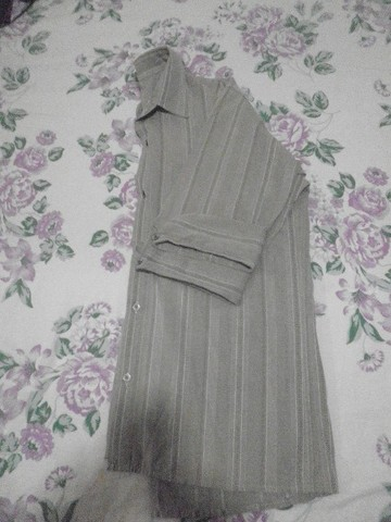 Camisa masculina, manga 3/4, em tecido leve - M - Foto 5