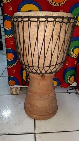 Djembe Original Gana Percussão Africana Tam Grande