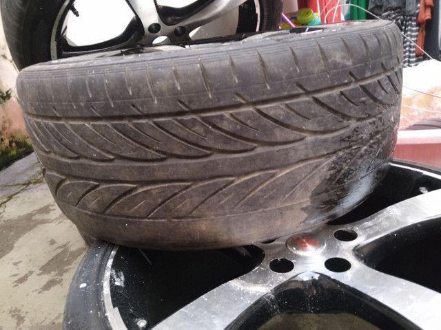 Jogo de  Aro 19 , com pneus semi novos  - Foto 4