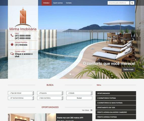 Web sites p/ Imobiliária/ Corretor