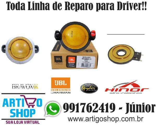 Reparo Driver Corneta Tweeter Selenium Spyder Bravox Diversas Marcas D250X D200