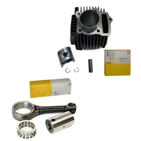 Kit Cilindro Motor Biz 100 Pop 100 Dream + Biela Metal Leve