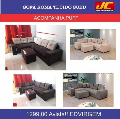 Sofá roma tecido sued