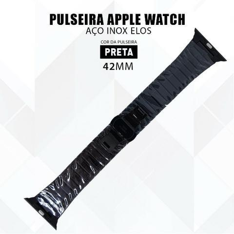 Pulseira Para Relógio Apple Watch De Elos 42mm Aço Inox - Foto 5