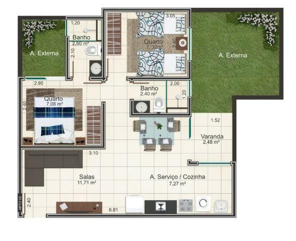 Apartamento Planta Residencial Flamboyant Próximo ao Industrial - Foto 15