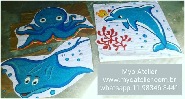 Golfinho para Piscina, fundo de piscina, piscina, polvo, raia, mosaico, desenho piscina - Foto 2