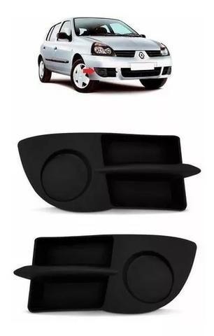 Par Grade Moldura Milha Sem Furo Renault Clio 2006 A 2013