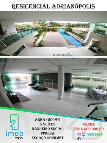 Residencial Adrianópolis, 5 suítes, piscina com fino acabamento (aceita bermuta)