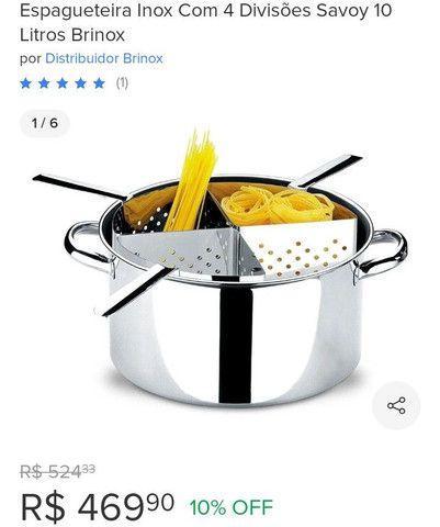 Espagueteira Inox com 4 divisões 10 litros
