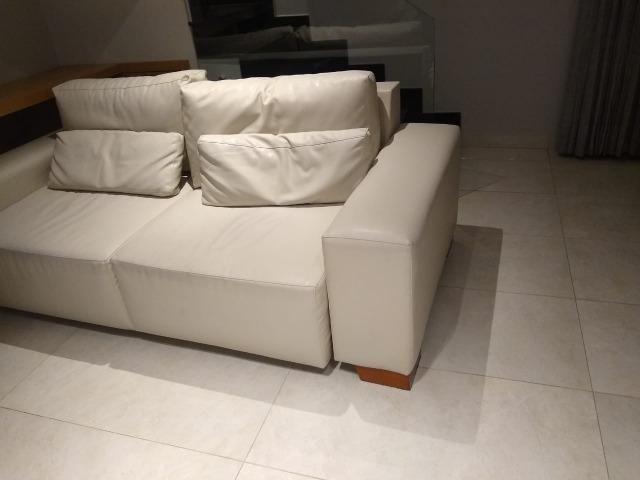 Sofa de Couro Bege ( lindo ) - Móveis - Industrial ...