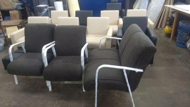Poltrona recepção e poltrona papai reclinável !!! Fábricamos móveis salão !! - Foto 2