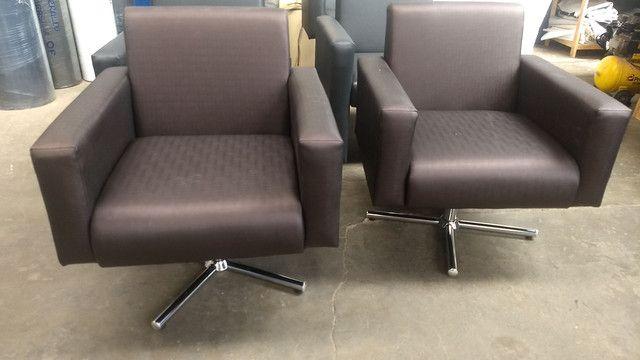 Poltrona recepção e poltrona papai reclinável !!! Fábricamos móveis salão !! - Foto 5