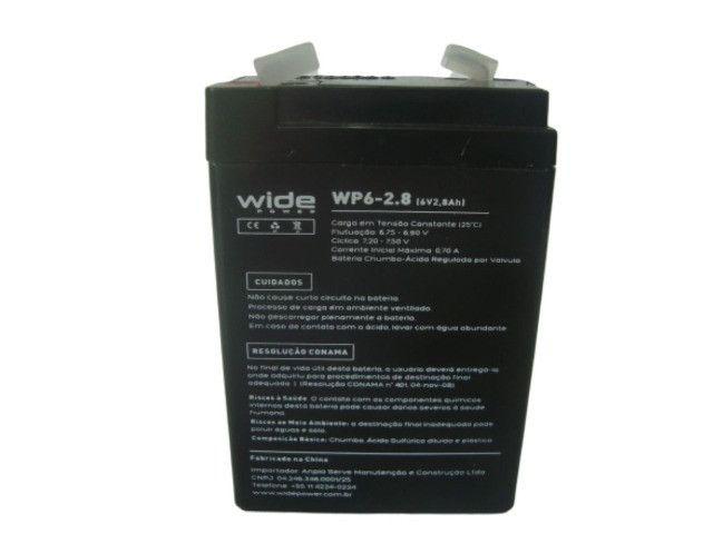 Bateria Selada 6V 2.8Ah - Balanças / Alarmes / Luz de Emergência Etc