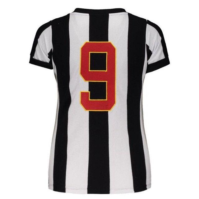 Camisa Oficial Atlético Mineiro Reinaldo Babylook Feminino (Tam. P-M-G) em Uberaba, MG - Foto 4
