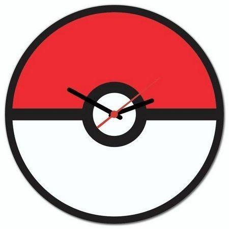 Relógio de Parede Temático Pokébola Pokémon - Foto 3