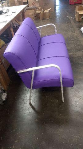 Poltrona recepção e poltrona papai reclinável !!! Fábricamos móveis salão !! - Foto 4
