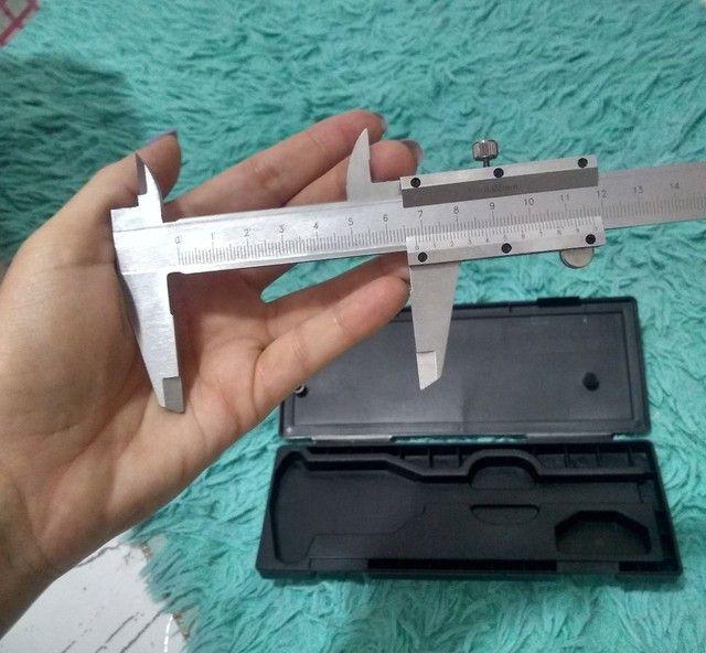 Paquímetro universal metalico 150mm R$ 55,00 - Foto 3